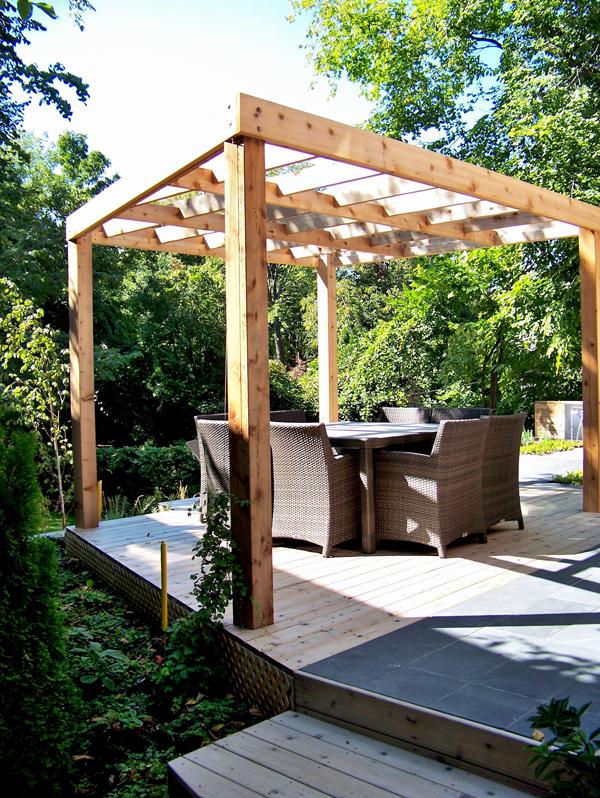 tonnelle contemporaine du jardin dans ma vie. Black Bedroom Furniture Sets. Home Design Ideas