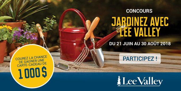 Concours Jardinez avec Lee Valley