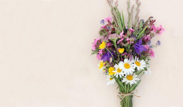 bouquet de fleurs maison