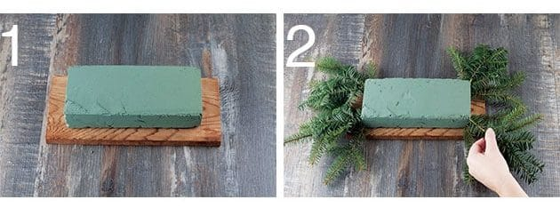 DIY centre de table de Noël