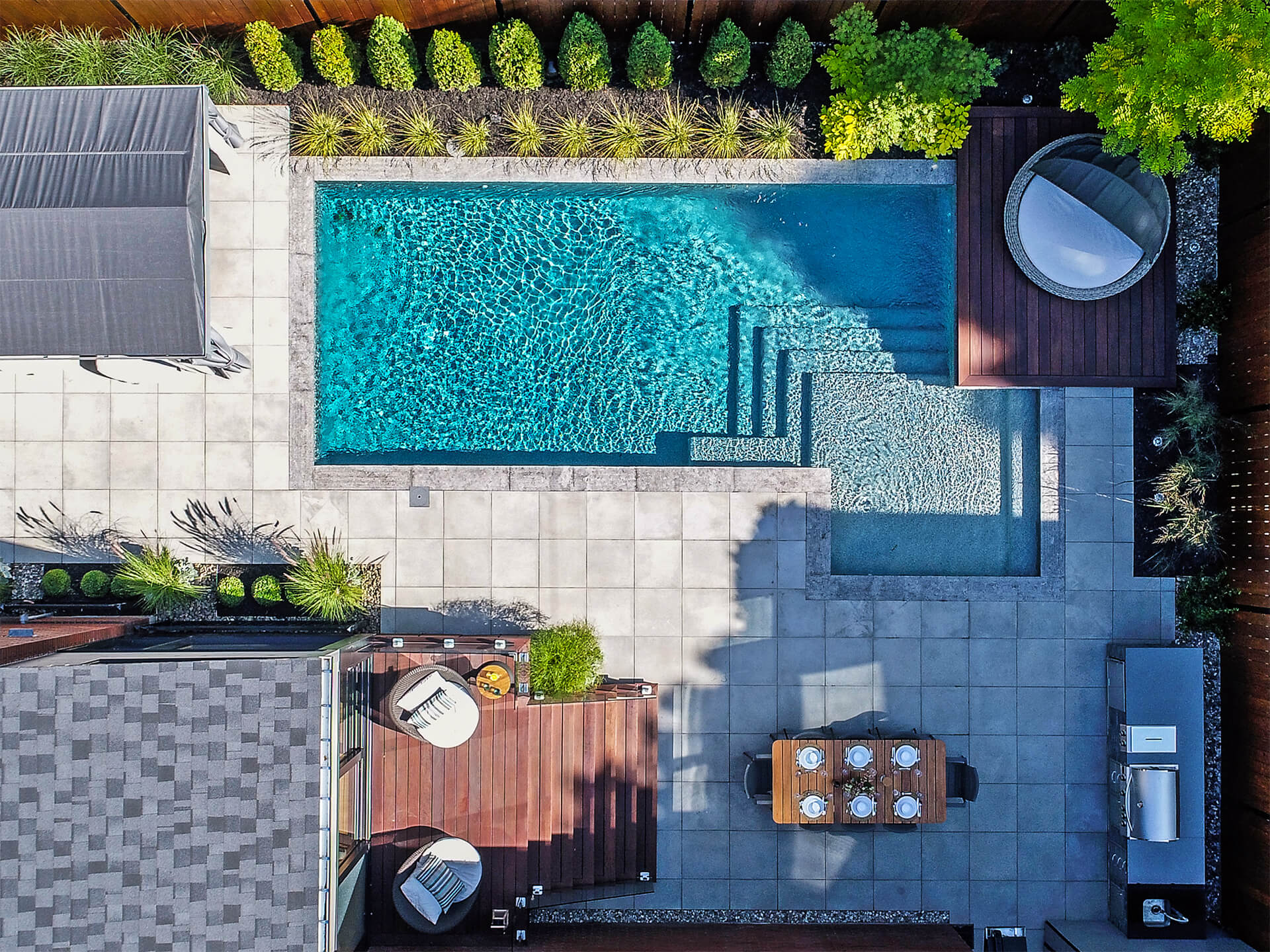 Aménagement Autour Piscine Creusée confort moderne – du jardin dans ma vie