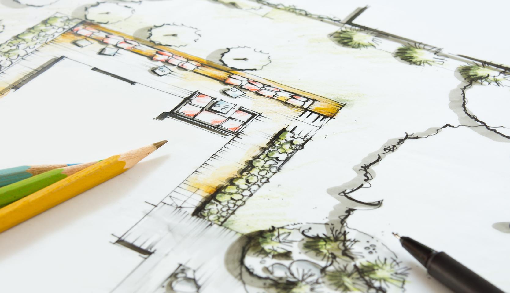 Plan aménagement paysager
