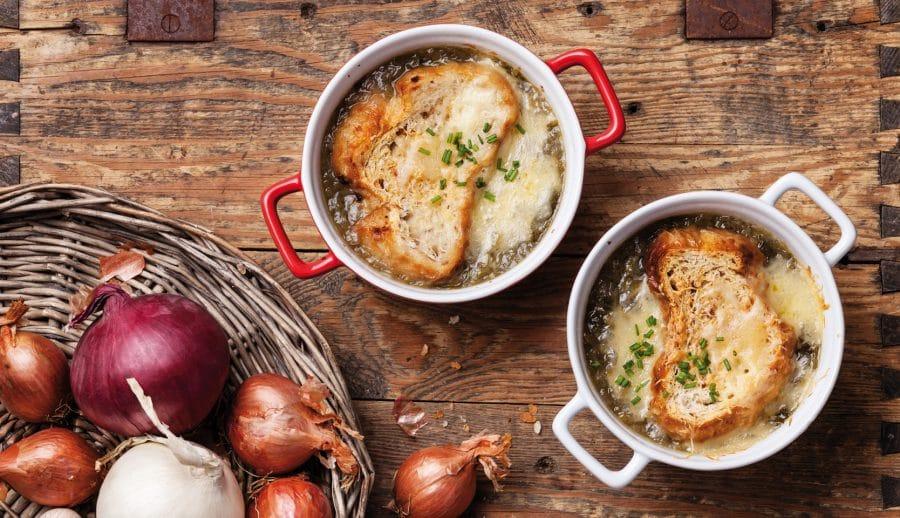 Soupe à l'oignon et au potiron