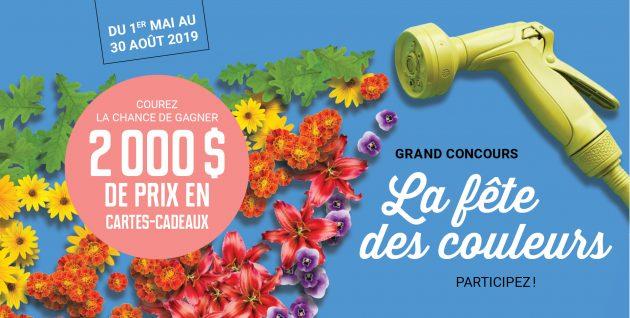 Concours La fête des couleurs – 2 000 $ à gagner