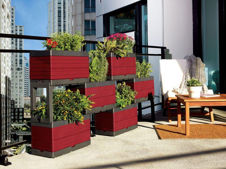 Jardin modulaire adapte au balcon