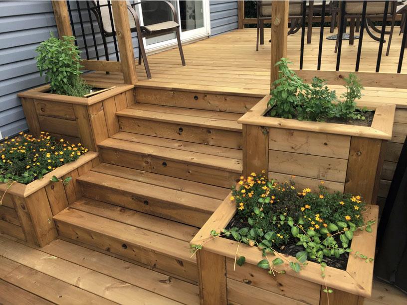 Terrasse bois traite