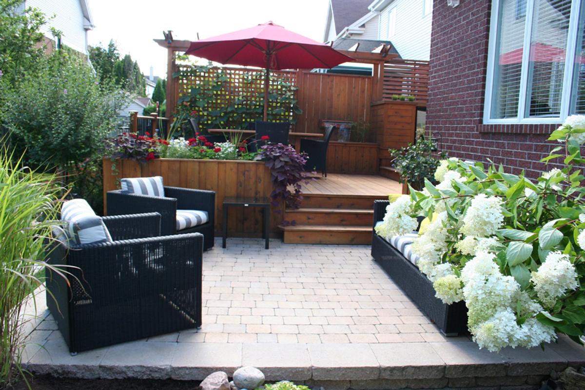 Terrasse à paliers