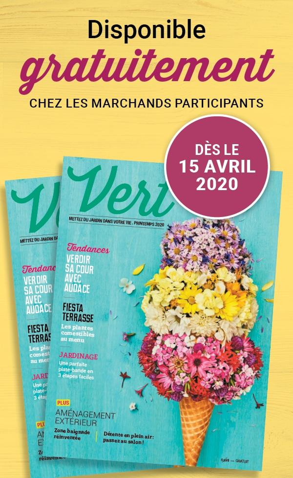 Le magazine Vert 2020 sera bientot disponible