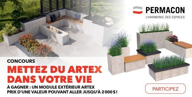 Concours Mettez du ARTEX dans votre vie présenté par Permacon