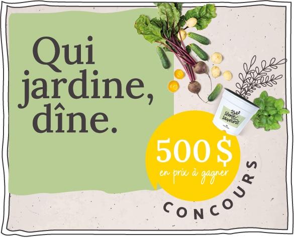 Concours Qui jardine, dîne annonce