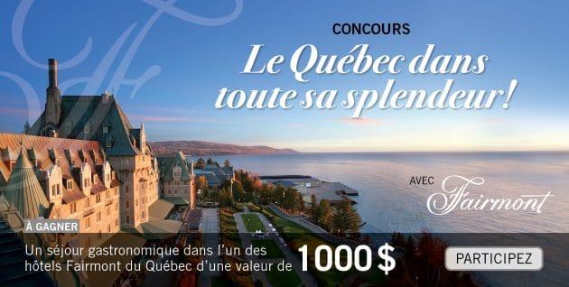 Concours Le Québec dans toute sa splendeur