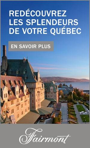 Les hotels Fairmond du Quebec